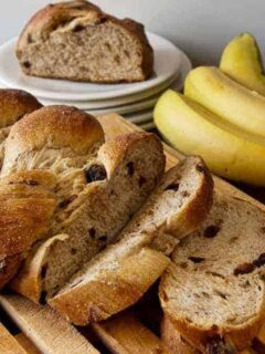 braided whole wheat banana bread