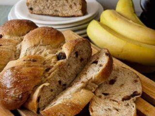 braided whole wheat banana bread
