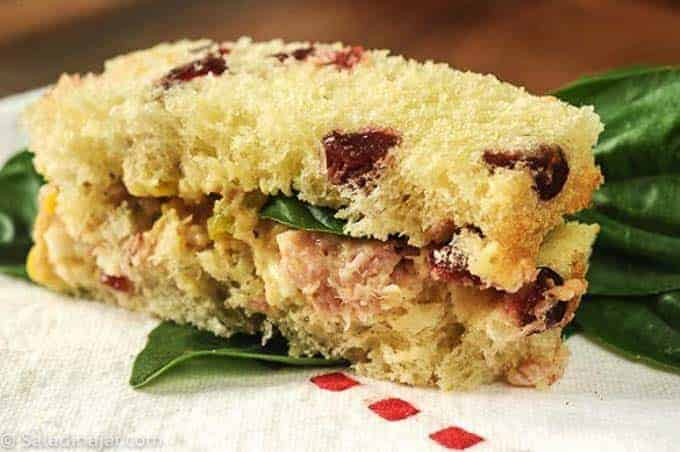 ham salad on cranberry bread