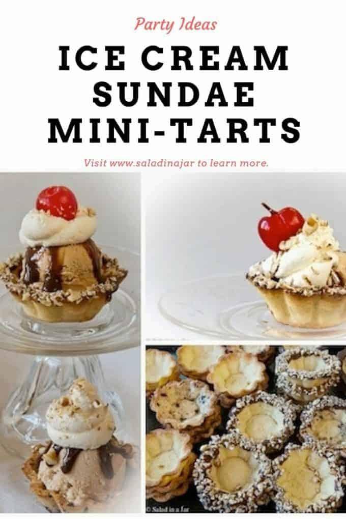 pinterest image for ice-cream sundaes in deluxe mini-tarts