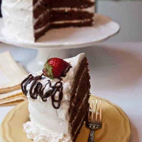 Kay's Swiss Chocolate Cake--A Crowd Favorite