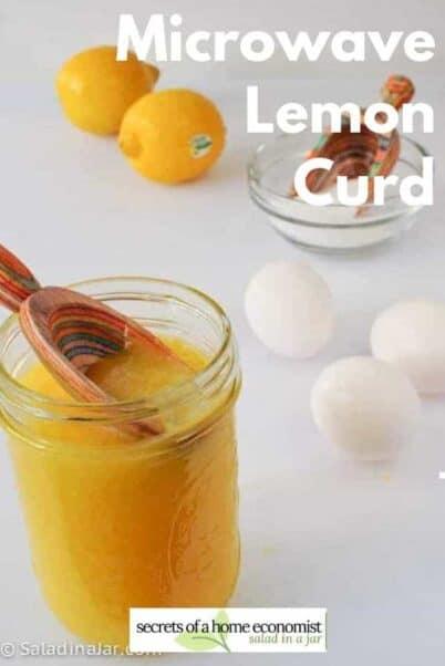 pinterest image for microwave lemon curd