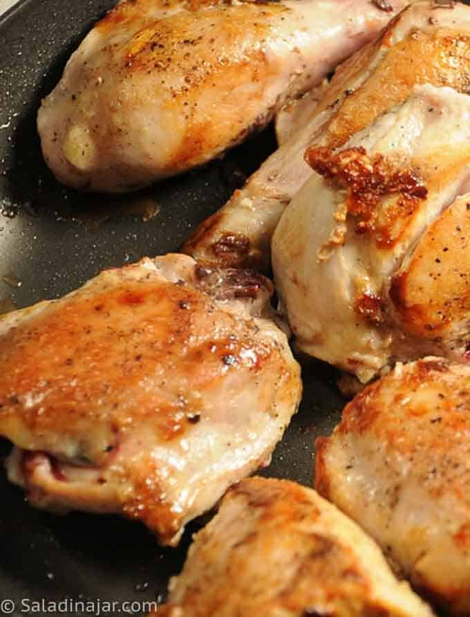 browning chicken pieces