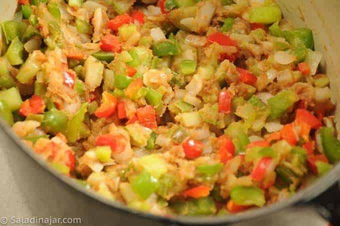 Sauté veggies to soften