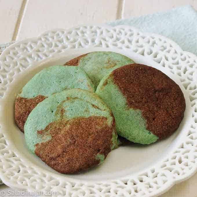 turquoise and chocolate moonstone cookies