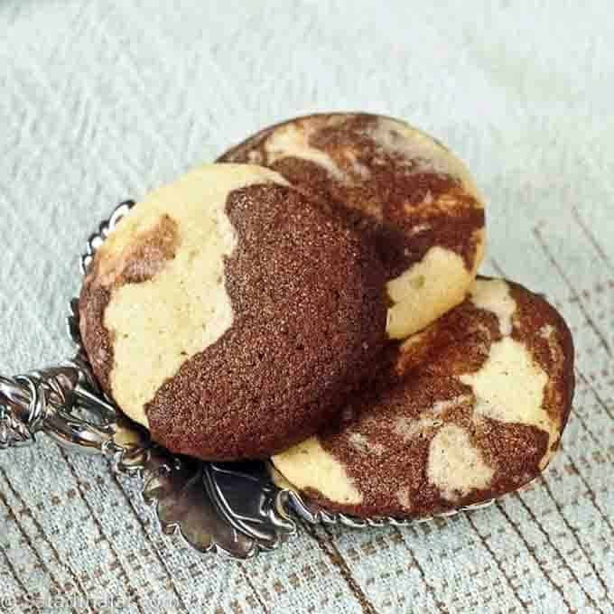 black and white moonstone sugar cookies--a version of red, white, and blue cookies