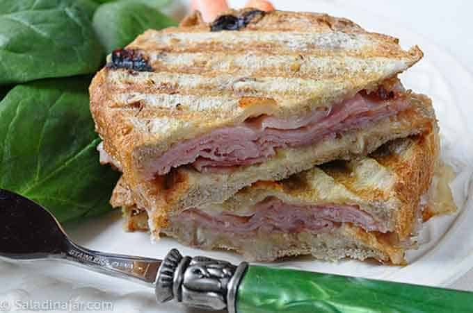 ham and cheese panini made with this bread