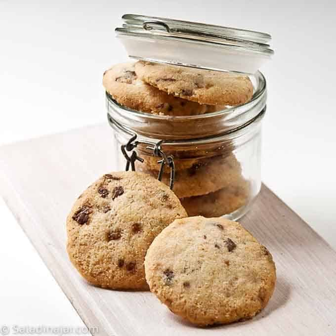Ruth's shortbread cookies with chocolate chips but not dipped in chocolate