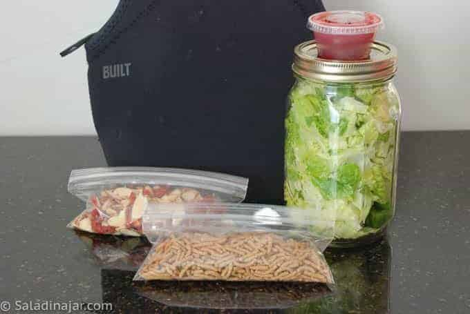 how I pack my lunch salad