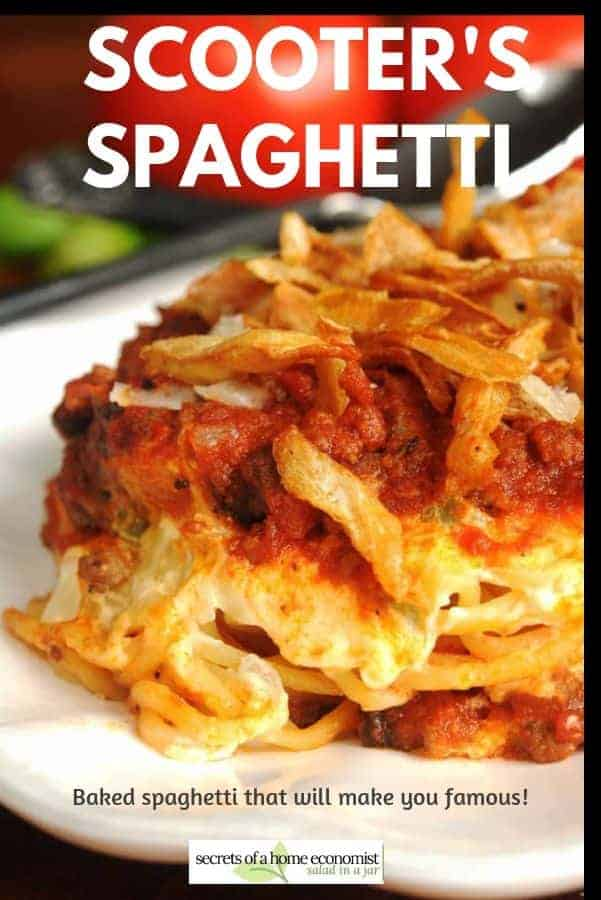 Pinterest Image for Scooter's Spaghetti