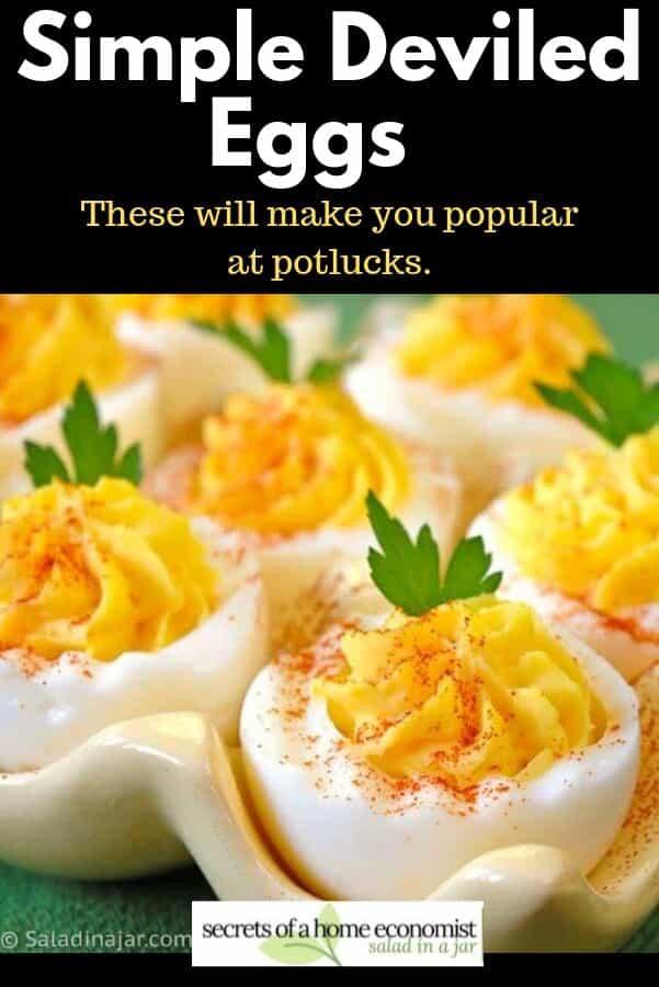 pinterest image for deviled eggs