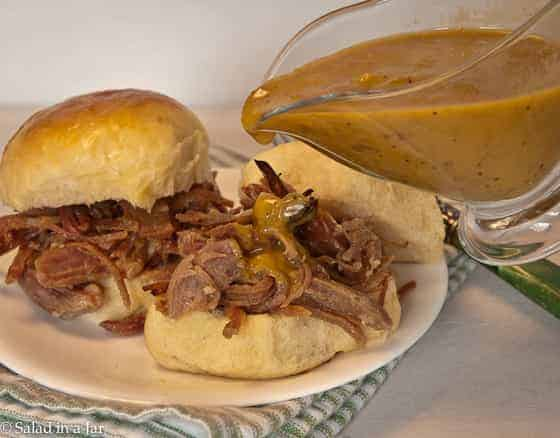 Pulled Ham Sandwiches with Honey-Mustard Barbecue Sauce