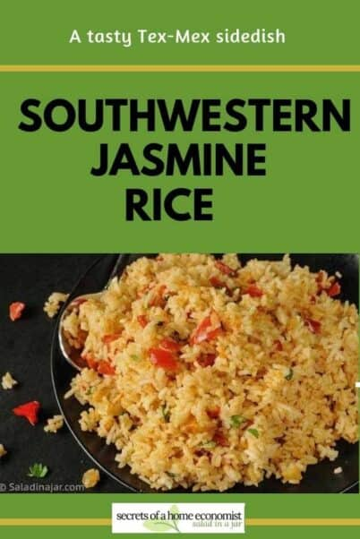 Pinterest Image for Southwestern Jasmine Rice