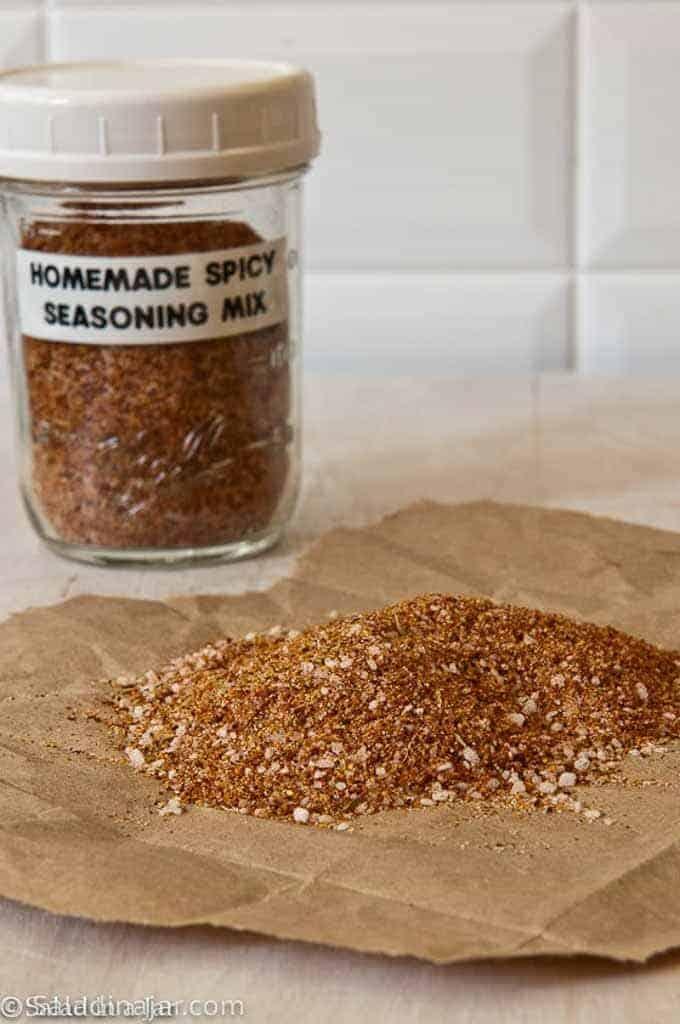 Homemade spicy seasoning mix