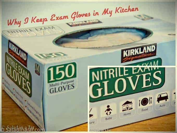 box of exam gloves like I keep in my kitchen