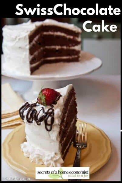 Pinterest Image for Swiss Chocolate Cake