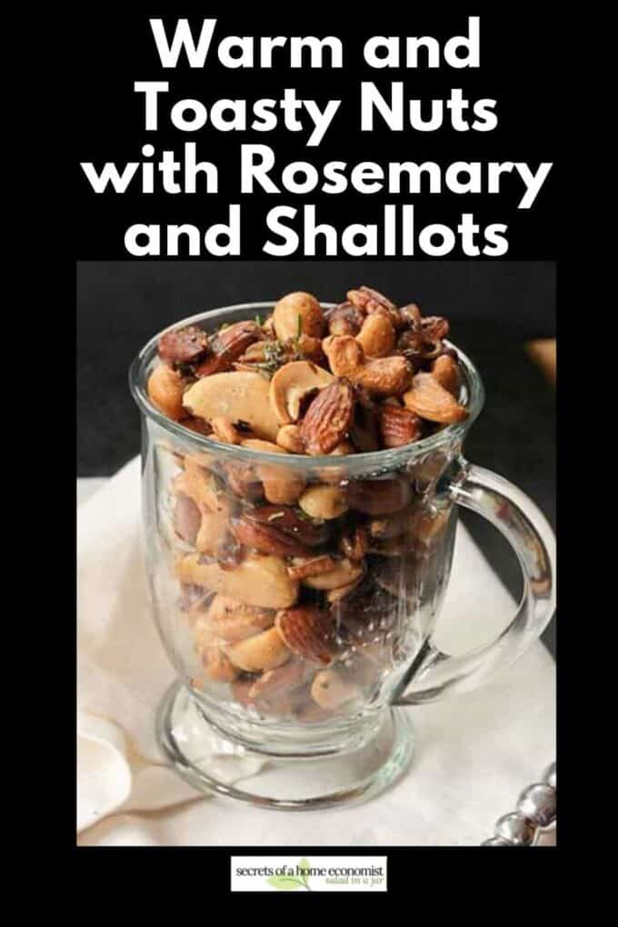 Pinterest image of warm and toasty nuts