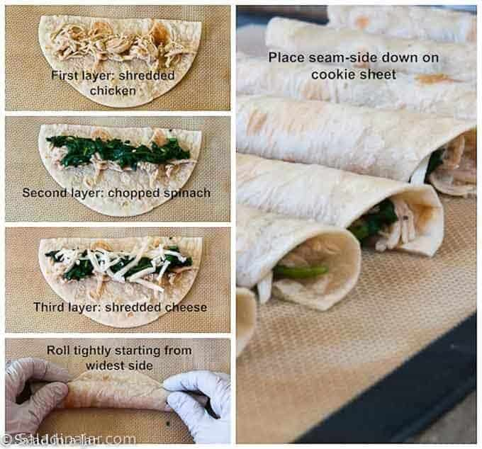 how to assemble flautas