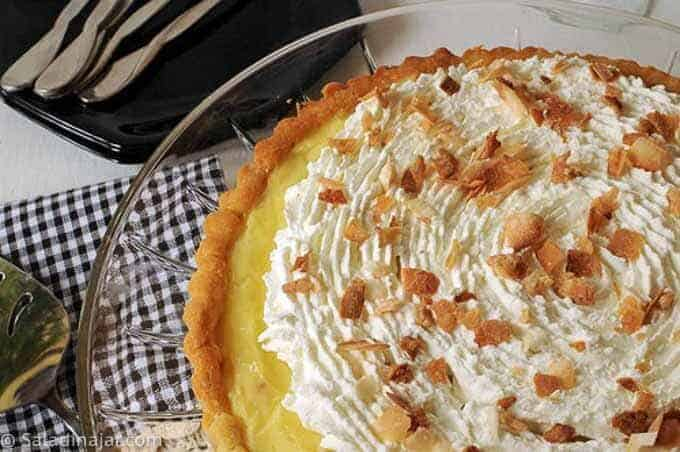 Microwave Custard Pie or Tart Filling with a Cookie Crust--coconut cream pie