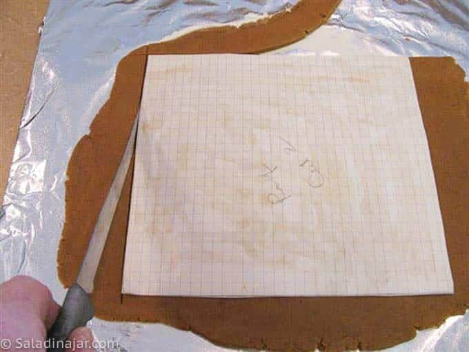 cutting dough from a pattern