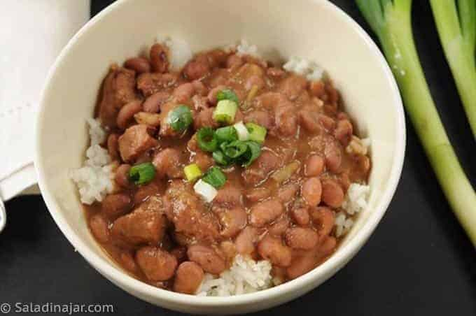 Red Beans and Rice - a single bowl