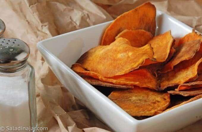 Baked Skinny Sweet potato Chips