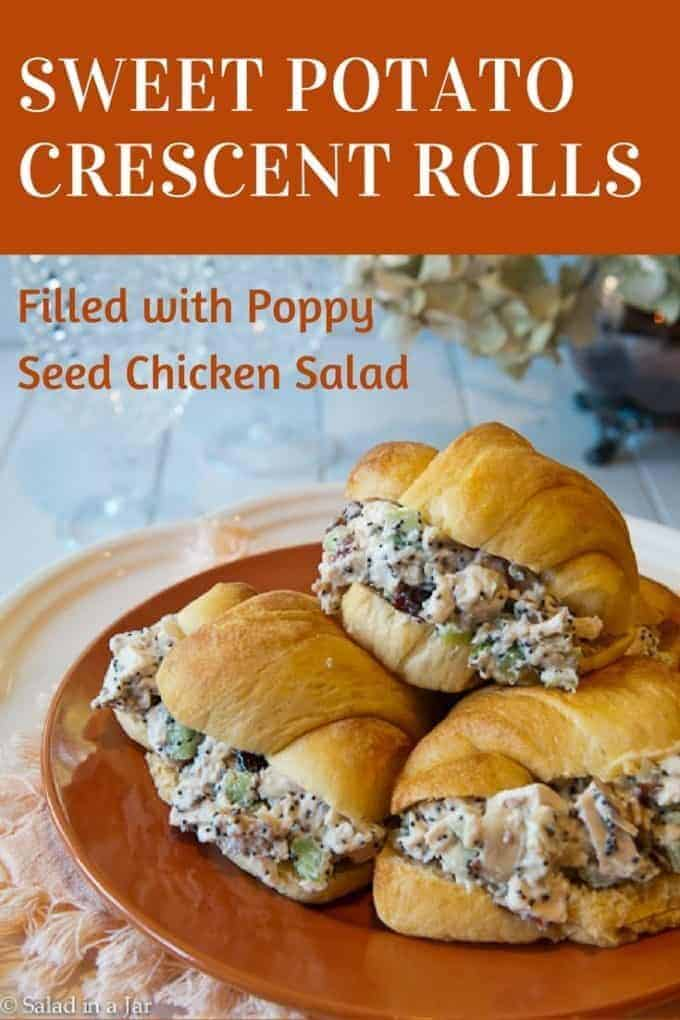pinterest image for sweet potato crescent rolls