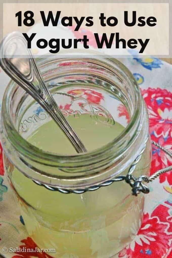 jar of whey strained from yogurt