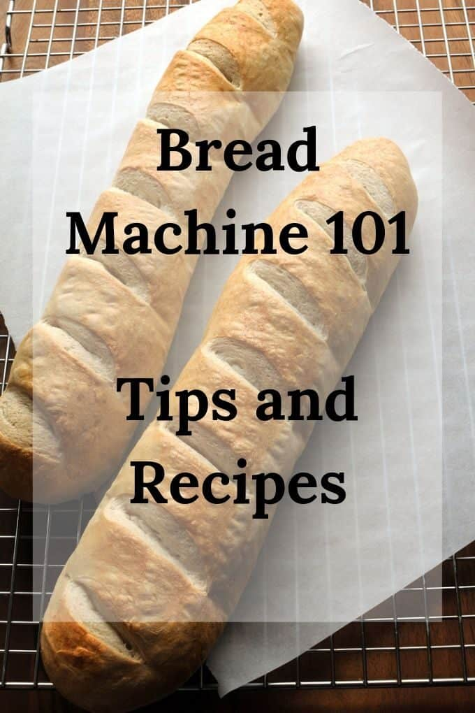french bread made in a bread machine linked to bread machine silo