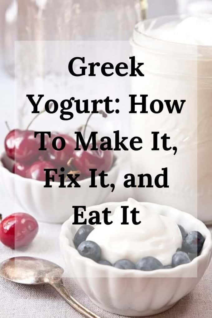 Homemade Greek yogurt with blueberries and cherries