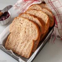slice bread on a tray