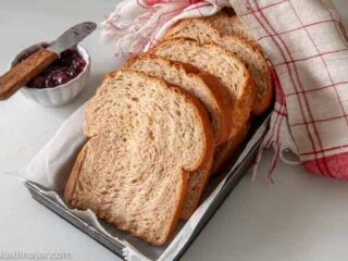 slice bread on a tray