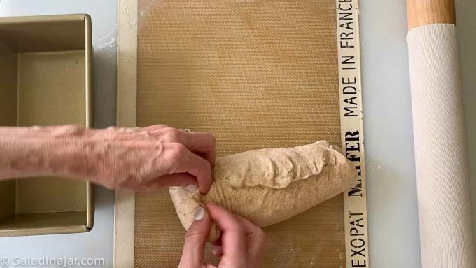 shaping the loaf
