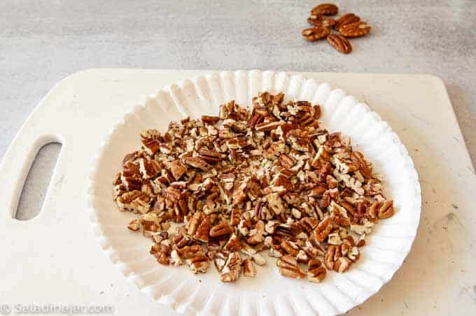 pecans toasted in the microwave