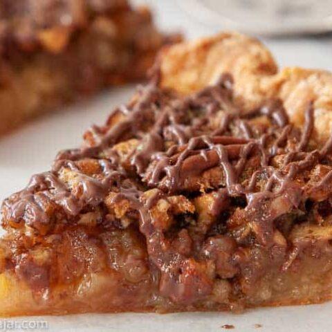 slice of browned-butter pecan pie