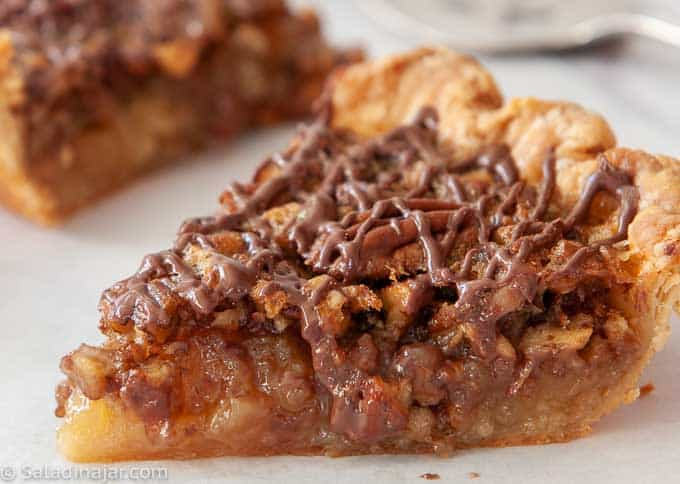 slice of browned-butter pecan pie