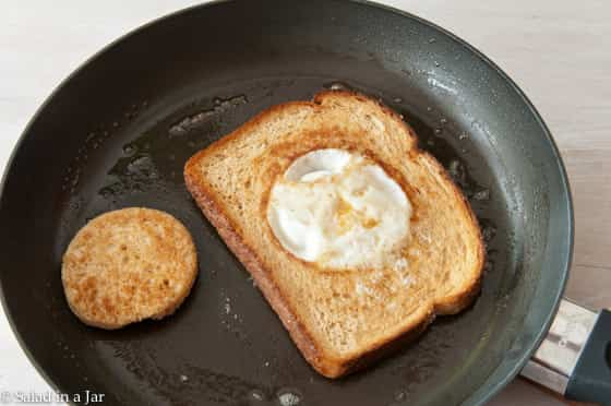 egg-in-a-hole toast