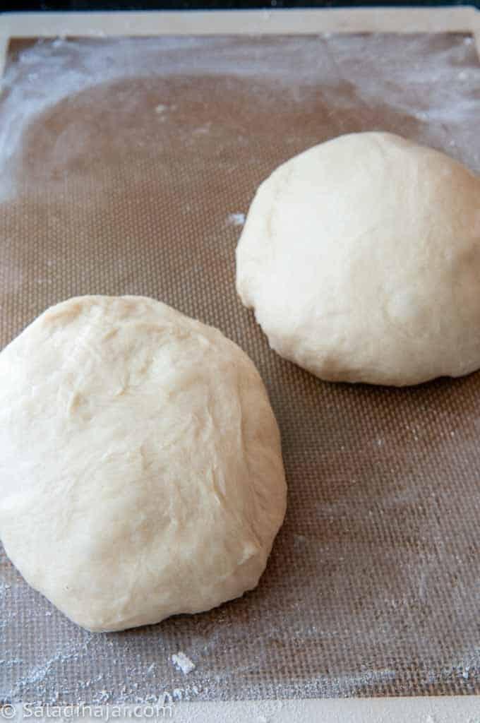 two dough balls
