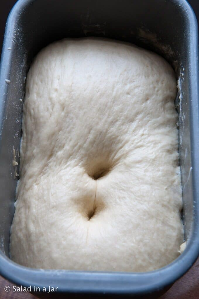 one way to check the dough to see if it has proofed enough
