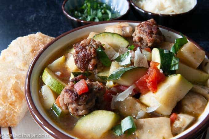 ratatouille soup in a bowl