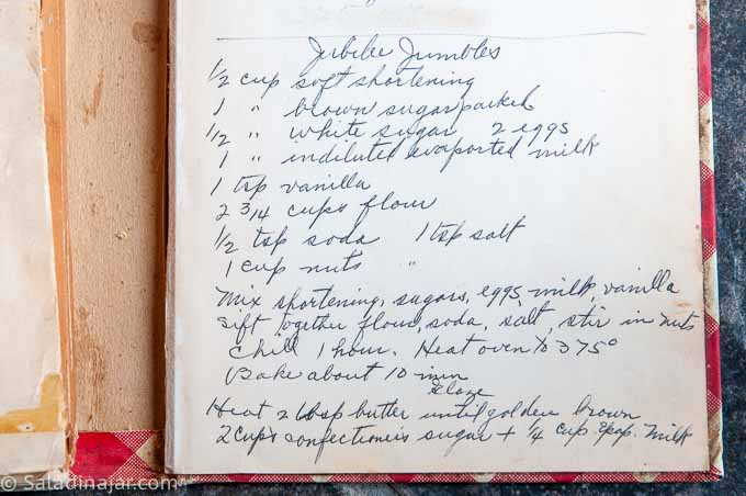 "Grandma's recipe for ""Jubilee Jumbles"" which close to this recipe for Cinnamon Jumbles"
