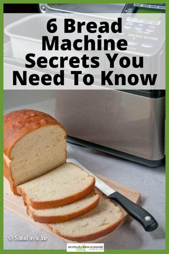 Pinterest image for Bread Machine Secrets