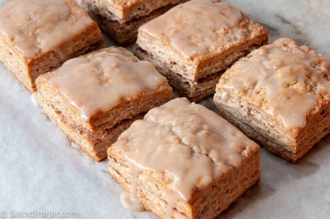 Cinnamon-Sugar Biscuits with Brown Butter Icing