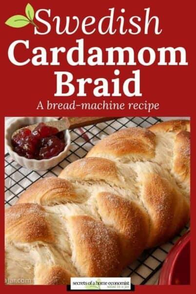 Pinterest image of Swedish Cardamom Braid