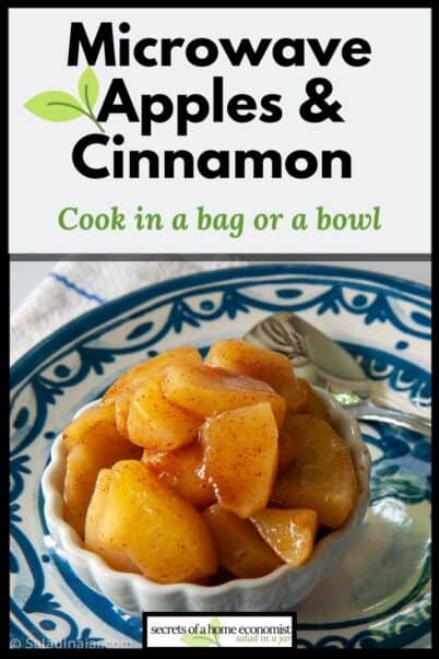 Pinterest image for microwave apples & cinnamon