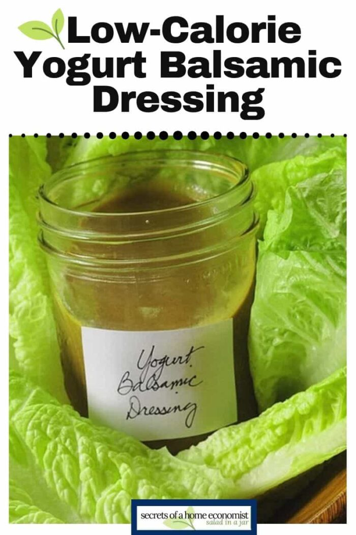 Pinterest Image for yogurt balsamic dressing