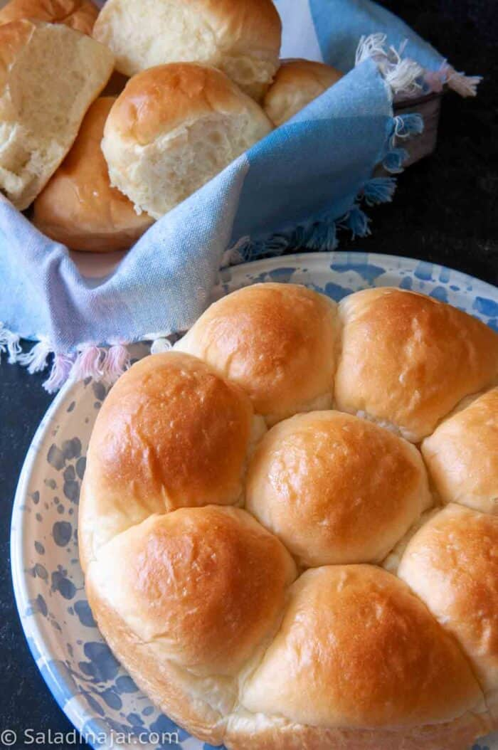 My Favorite Classic Dinner Rolls Recipe for a Bread Machine--baked rolls ready to bake