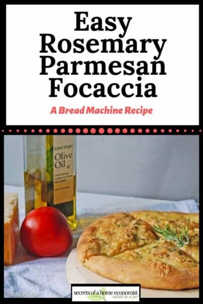 Pinterest Image for Easy Rosemary Parm Focaccia