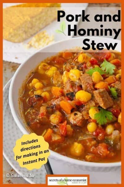 PInterest Image for POrk and HOminy Stew
