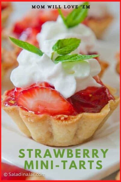 Pinterest Image for Strawberry mini-tarts